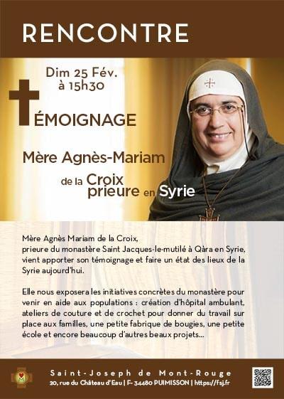 La Famille St Joseph - Monastère St Joseph de Montrouge - communique. Mere_agnes_mariam_syrie